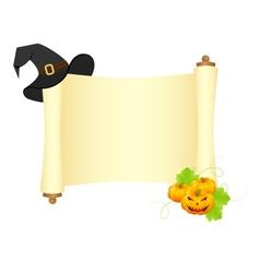 halloween scroll vector image vector image