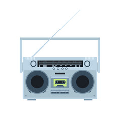 magnetic tape cassette player vintage radio vector image vector image