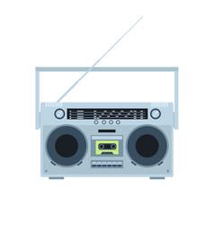 magnetic tape cassette player vintage radio vector image