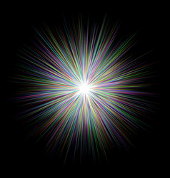 abstract multicolored blast design background vector image