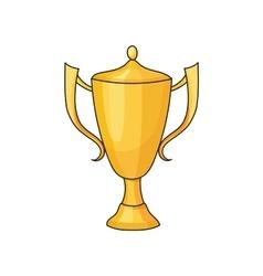 doodle winner cup vector image