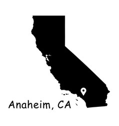 1319 anaheim ca on california state map vector