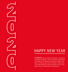 2020 happy new year background design vector image