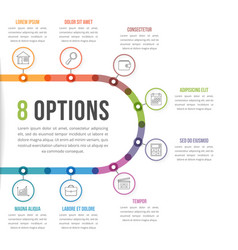 8 options infographic template vector