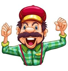 A lumberjack cheering vector image