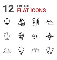 Adventure icons vector