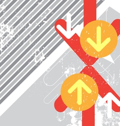 Arrow crash battle with grunge background vector