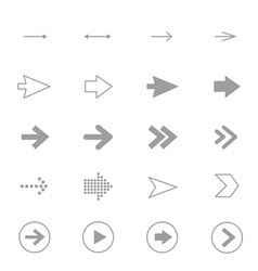 Arrow Icons Line Set Of Design copy vector image