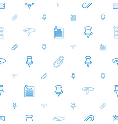 Attachment icons pattern seamless white background vector