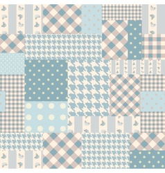Blue patchwork of rectangles vector