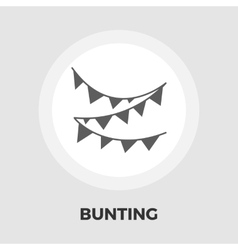 Bunting flat icon vector image