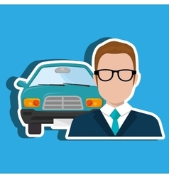 Car salesman design vector