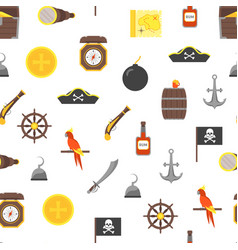 cartoon pirate signs seamless pattern background vector image