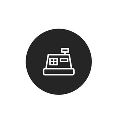 cash register icon vector image
