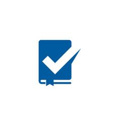 Check book logo icon design vector