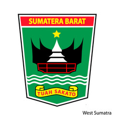 Coat arms west sumatra is a indonesian vector