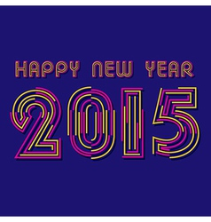 Creative happy new year 2015 design vector