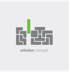creative solution for business support and vector image