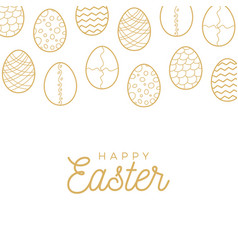 Easter egg banner golden egg icons collection in vector