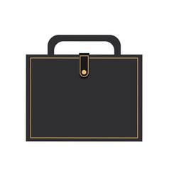 Elegant briefcase icon vector