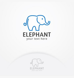 elephant logo design vector image