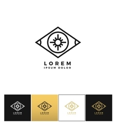Eye logo or looking control icon vector