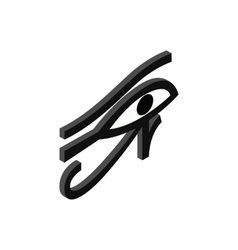 Eye of Horus icon isometric 3d style vector