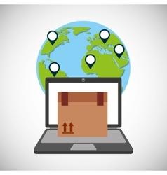 Fast delivery service icon vector