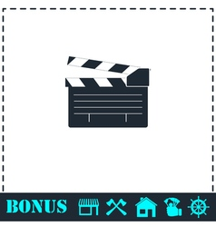 Film flap icon flat vector image