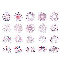fireworks 4th july celebration festival vector image