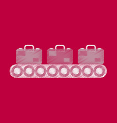 Flat icon in shading style baggage claim vector
