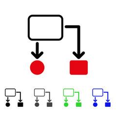 Flowchart scheme flat icon vector