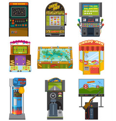 game machine arcade gambling games hunting vector image