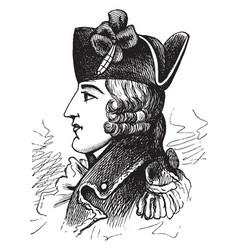 general edward braddock vintage vector image