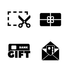 gift cards coupon simple related icons vector image