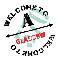 Glasgow stamp rubber grunge vector