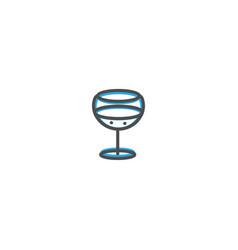 glass icon design gastronomy icon vector image