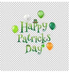 happy patrick day text transparent background vector image
