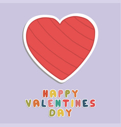 happy valentines day card holiday background with vector image