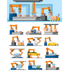 industrial automated manufacturing concept vector image