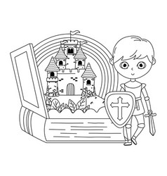 isolated medieval knight design vector image
