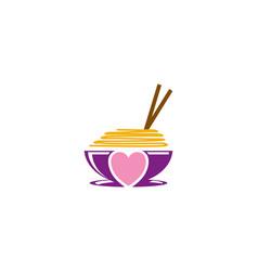 Love noodle logo vector