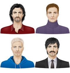 Men face vector image