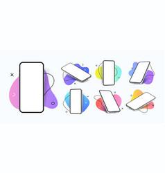 mobile phone mockup realistic smartphones vector image