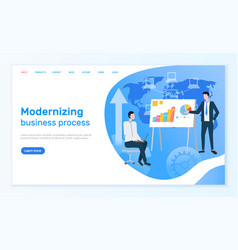 Modernizing business process online info page vector