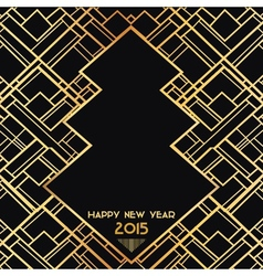New Year 2015 Art Deco Card vector image