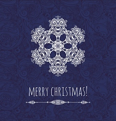 new year card with decorative snowflake vector image