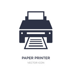 Paper printer icon on white background simple vector