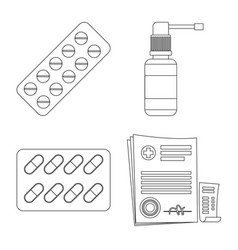 pharmacy and hospital icon vector image
