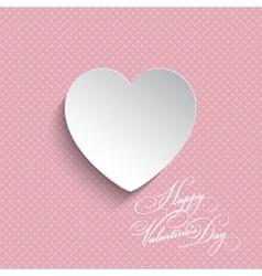 polka dot valentines heart background 0512 vector image